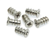 Euro Screw Flat Head Pozi Unharden Size 6.3mm X 11.5mm, 8mm Pozi, Nickel Plated. gauge 6.3 Drilling Diameter 5mm