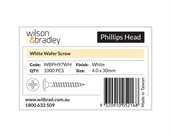 White Head Phillips Wafer Screw 4.0 X 30