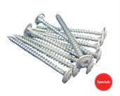 White Head Pozi Wafer Screw 4.0 X 50