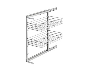 Pantry Wire Roll Out For 200mm Cabinet 2 Chrome Baskets Grey Frame Will Fit 150mm Opening