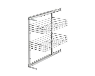 Pantry Wire Roll Out For 300mm Cabinet 2 Chrome Baskets Grey Frame Will Fit 250mm Opening
